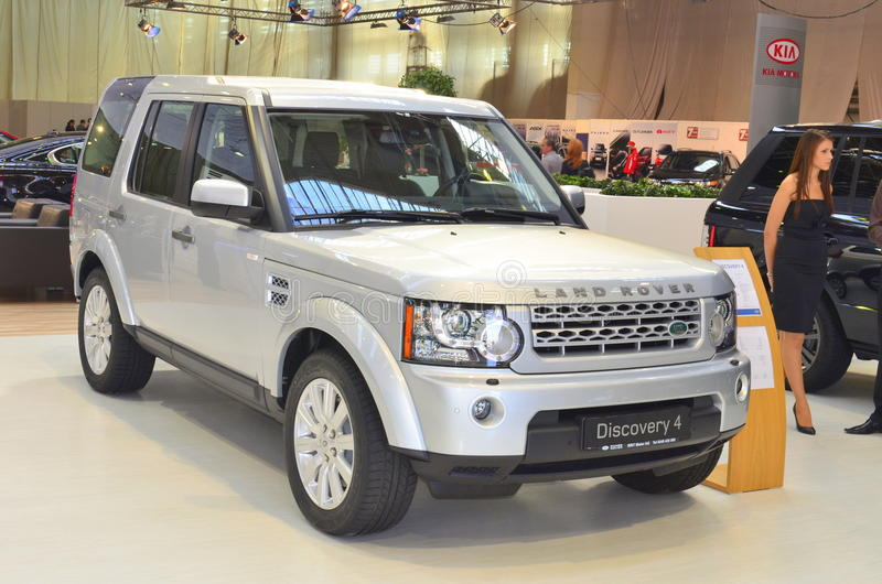 Land Rover Discovery 4 at SIAB 2011 stock photo