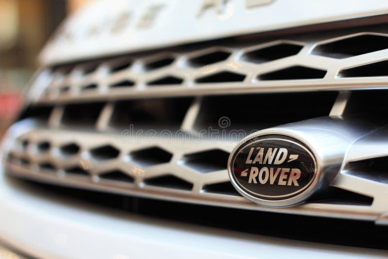 Land Rover logo zdjęcia stock