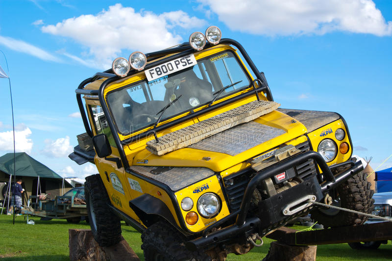Land Rover on obstacle royalty free stock images