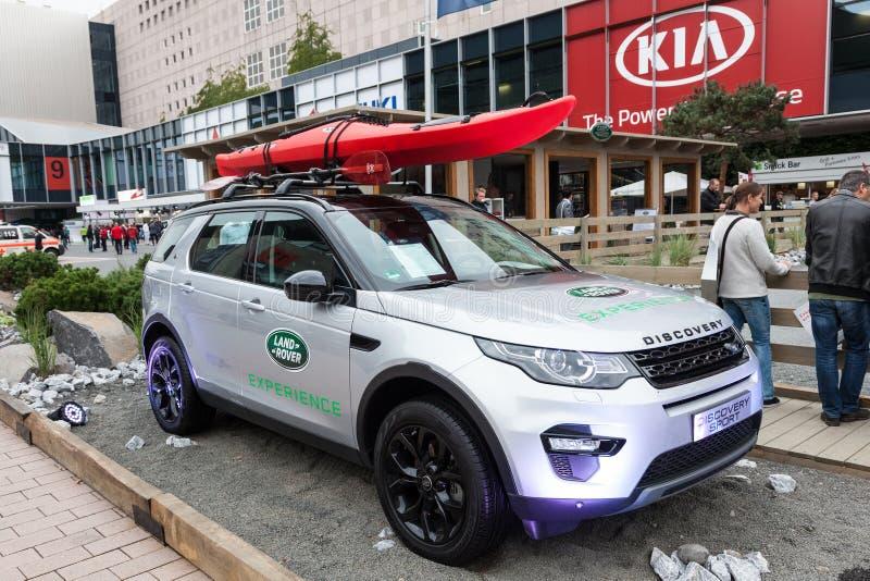Land Rover odkrycia sport przy IAA 2015 zdjęcia royalty free