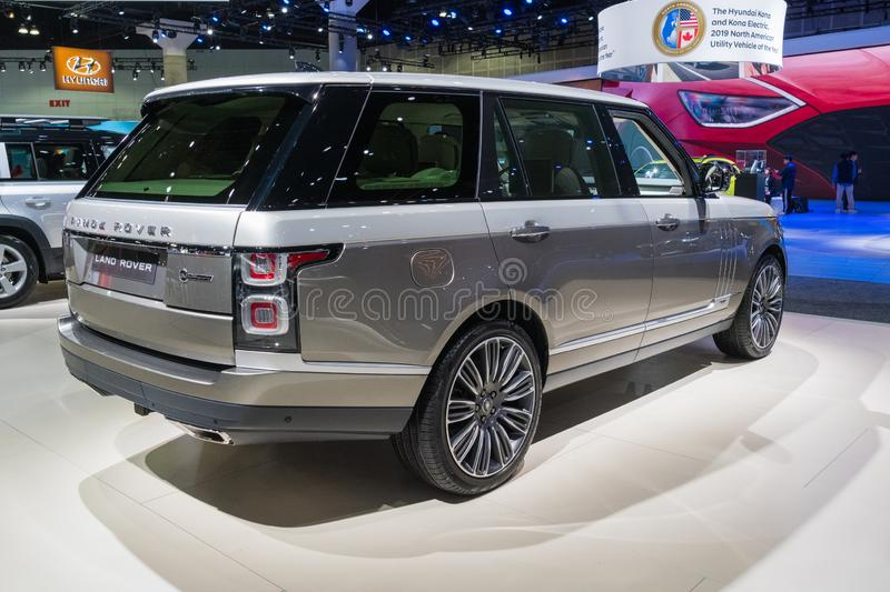 Land Rover Range Rover on display during Los Angeles Auto Show stock photography