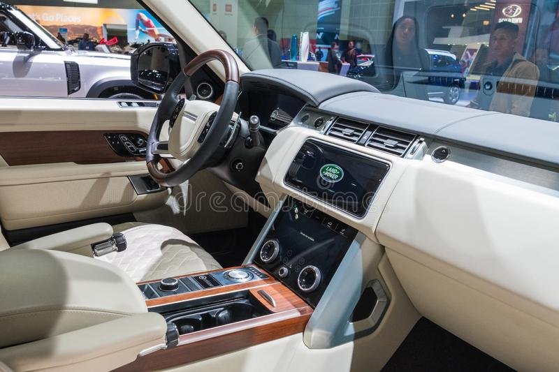 Land Rover Range Rover on display during Los Angeles Auto Show stock image