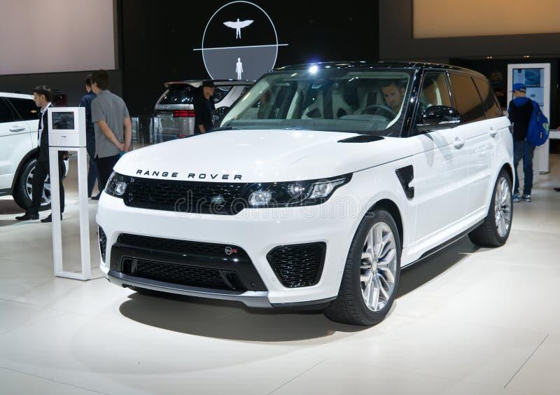 Land Rover Range Rover SVR stock afbeelding