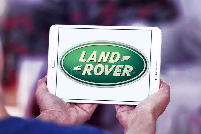Land Rover-Zeichen lizenzfreie stockfotos