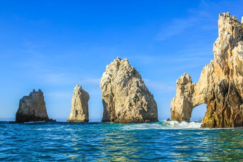 Land's End: de beroemde rotsvormingen van Cabo San Lucas royalty-vrije stock afbeelding