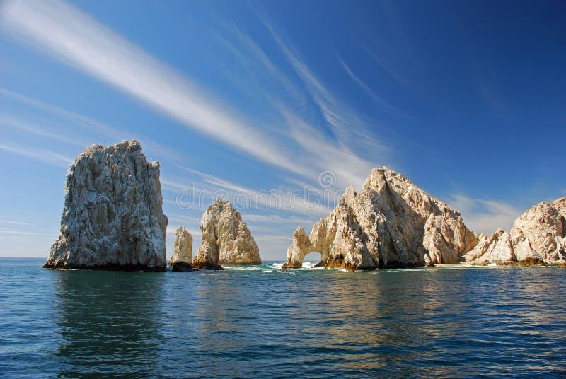 Land's End e l'arco famoso di Cabo immagini stock