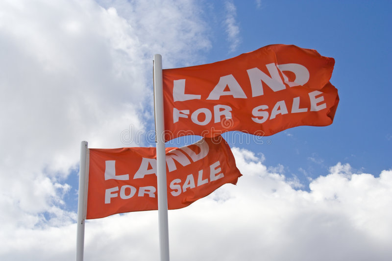 Download Land For Sale Flags stock photo. Image of owner, site - 4670412
