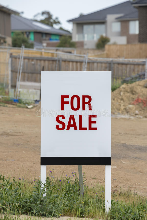 Land for sale stock images