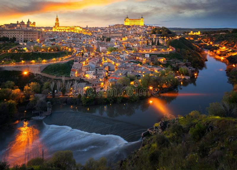 Download Toledo old city stock image. Image of aerial, panoramic - 117701011