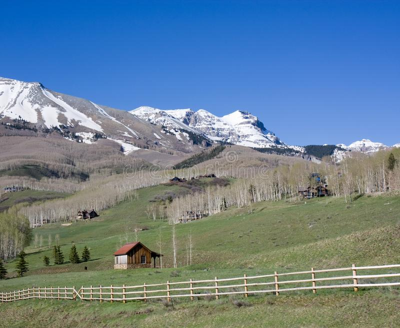 Land Scenics bij Telluride, Colorado royalty-vrije stock foto's