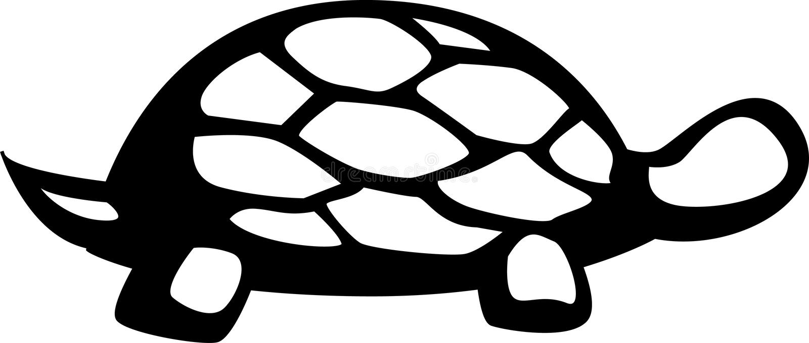 Land or sea turtle vector illustration stock illustration