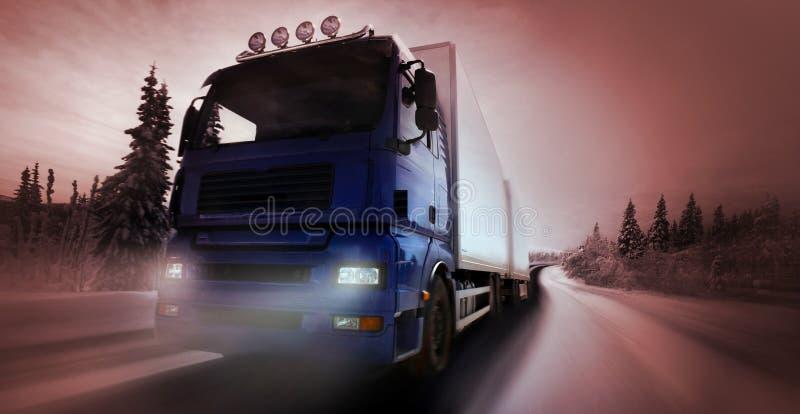 land som kör väglastbilen royaltyfri foto