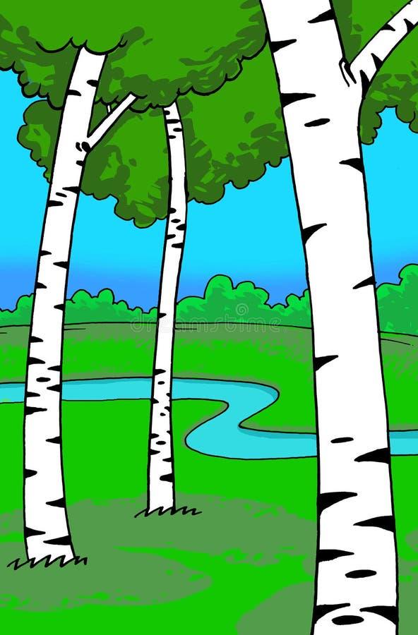 Download Land in spring stock illustration. Image of illustration - 9071435