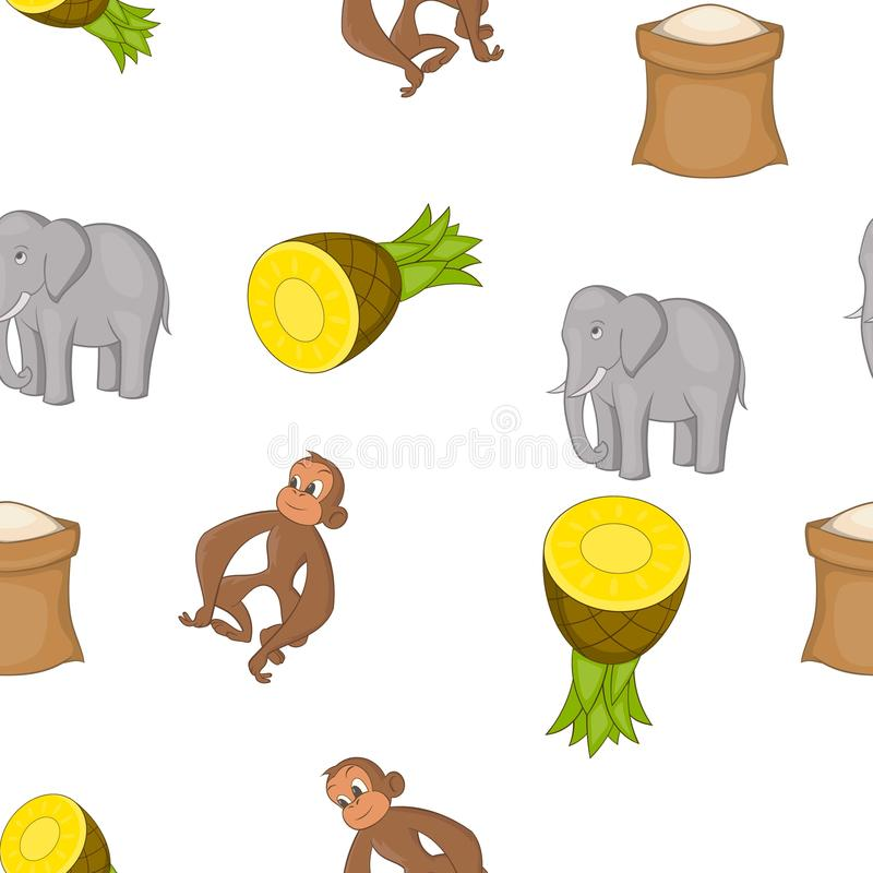 Land-Sri Lanka-Muster, Karikaturart vektor abbildung