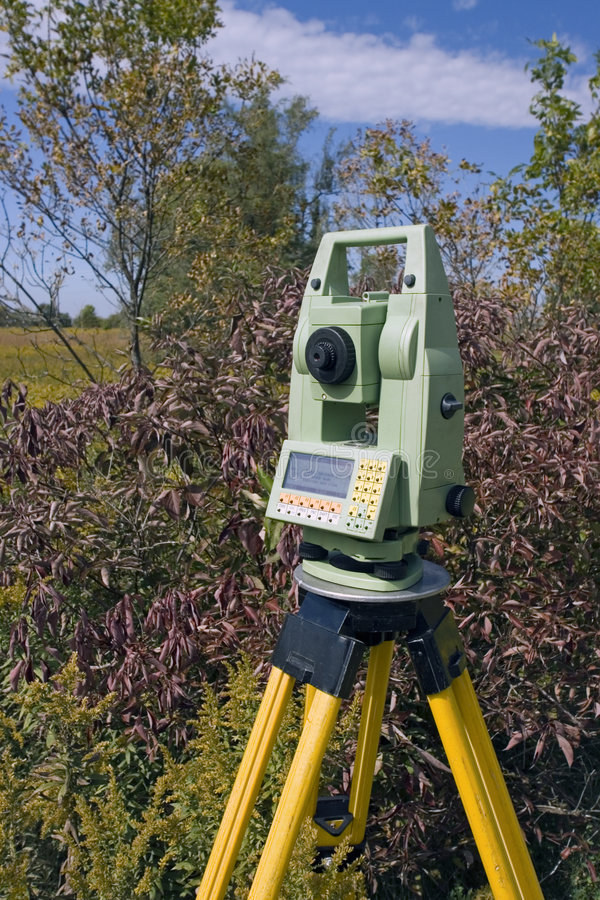 Download Land Surveying stock image. Image of target, field, accuracy - 3539635