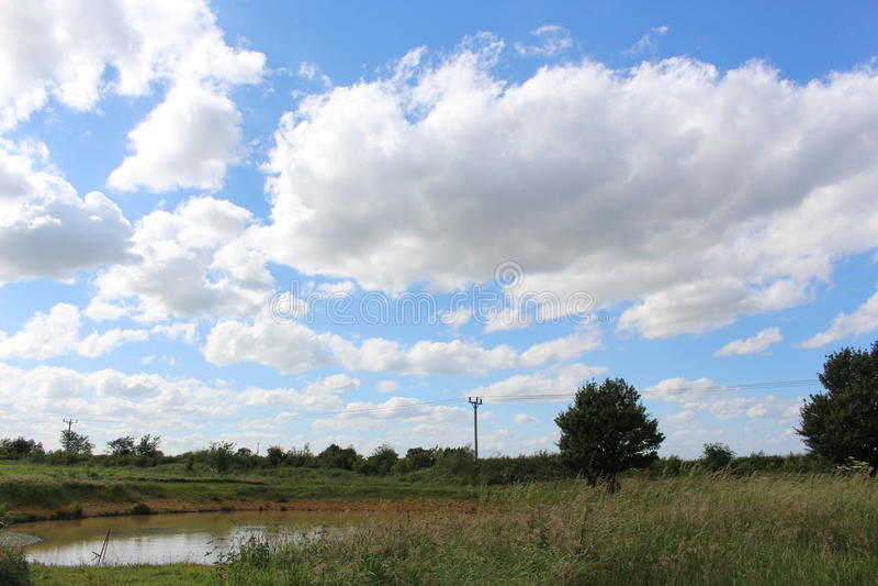 Land-Teich stockbild