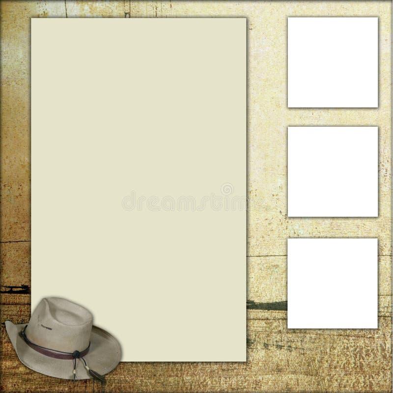 Land-Thema-Einklebebuch-Feld-Schablone lizenzfreie abbildung