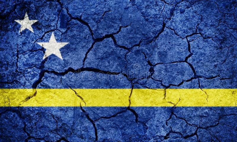 Land van Curacao vlag royalty-vrije stock afbeeldingen