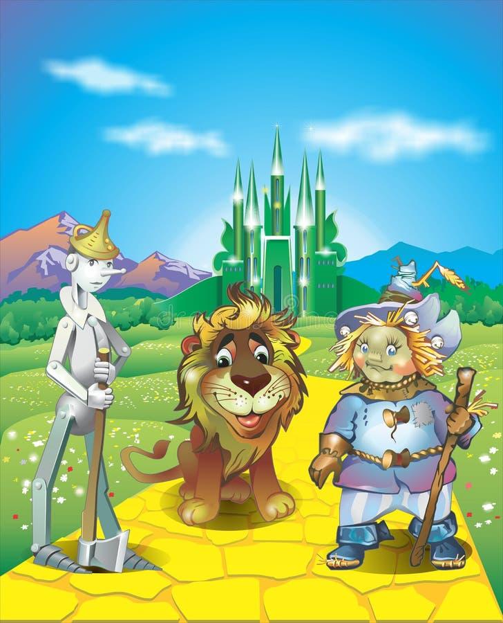 Land van Oz stock illustratie