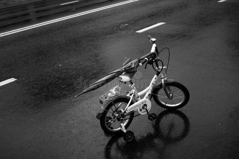 Land Vehicle, Black And White, Bicycle, Motor Vehicle stock photo
