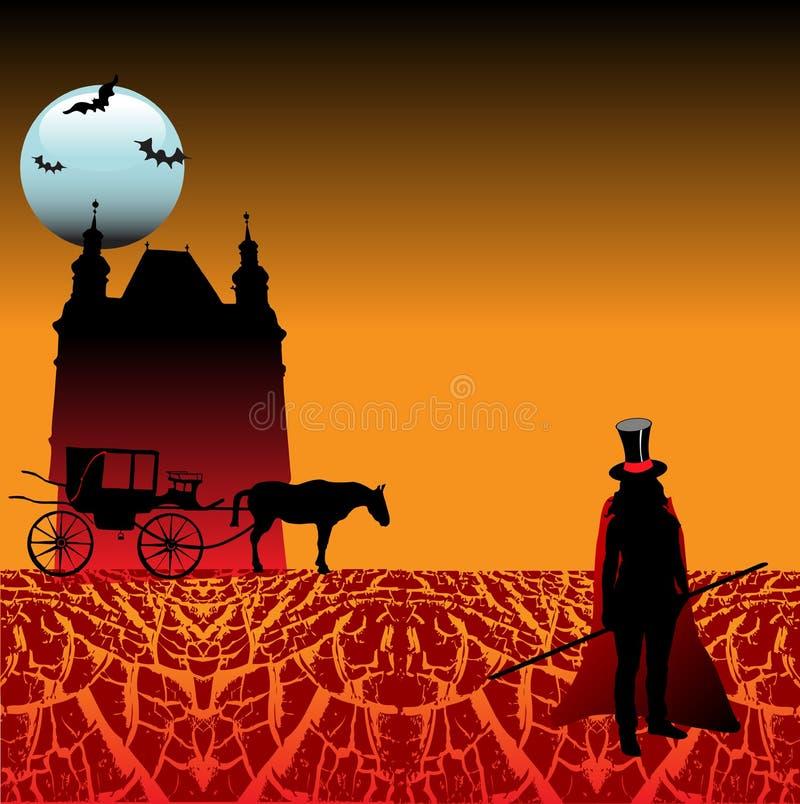 Land von Dracula lizenzfreie abbildung