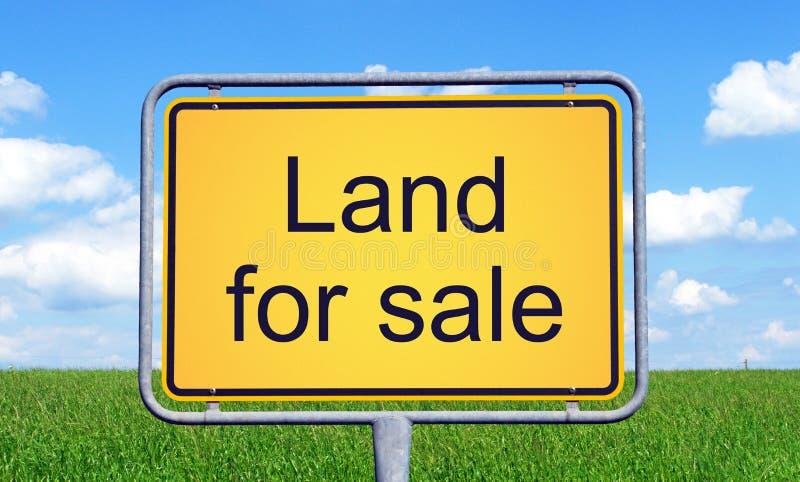 Land voor verkoop stock afbeelding