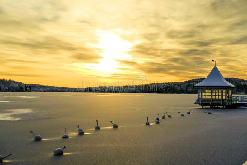 Land in Wintertijd stock fotografie