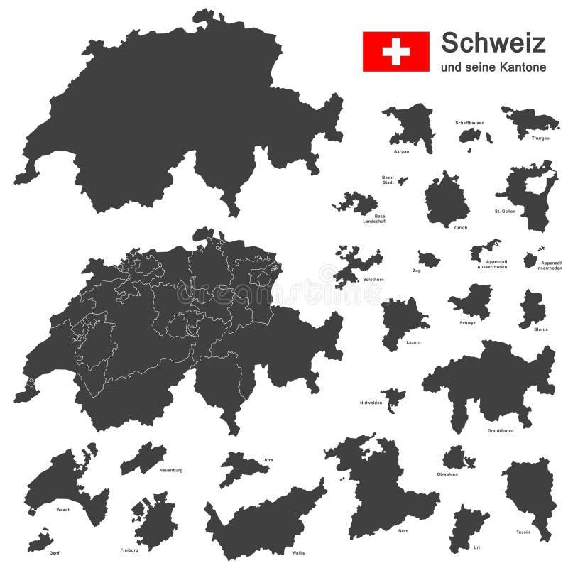 land Zwitserland vector illustratie