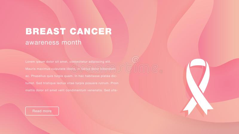Landa illustrationen för vektor för månad för sidabröstcancermedvetenhet vektor illustrationer