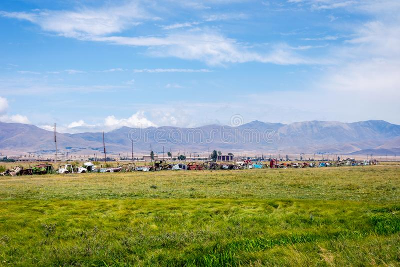 Landart samochody lub śmieci, Armenia obrazy royalty free