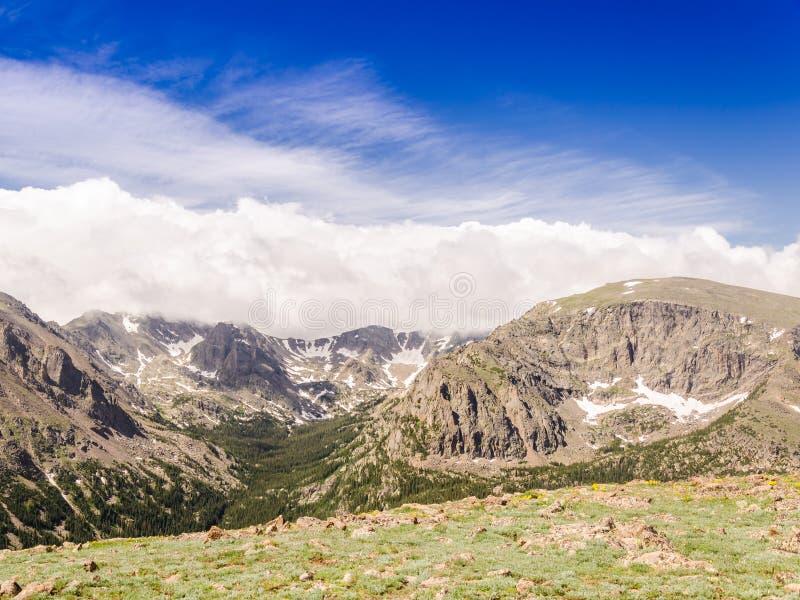 Landascape do parque nacional de montanha rochosa de Colorado fotografia de stock royalty free