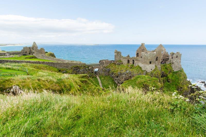 Landascapes dell'Irlanda Castello di Dunluce, Irlanda del Nord immagine stock