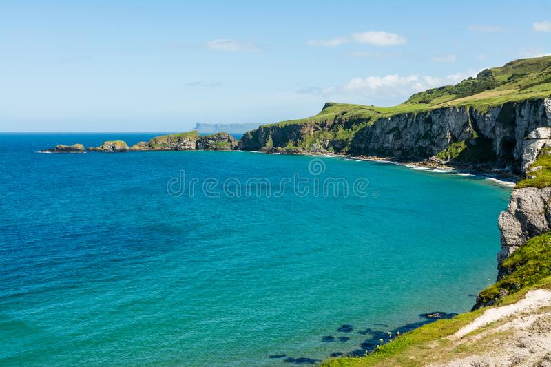 Landascapes of Ireland.  Carrick-a-rede, Northern Ireland. Landascapes of Ireland. Carrick-a-rede, Northern Ireland royalty free stock photography