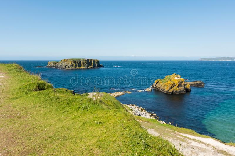 Landascapes of Ireland.  Carrick-a-rede, Northern Ireland. Landascapes of Ireland. Carrick-a-rede, Northern Ireland stock photo