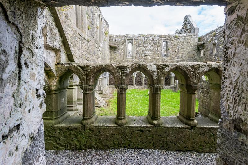 Landascapes of Ireland.  Ruins of Friary of Ross in Galway county. Landascapes of Ireland. Ruins of Friary of Ross in Galway county royalty free stock image