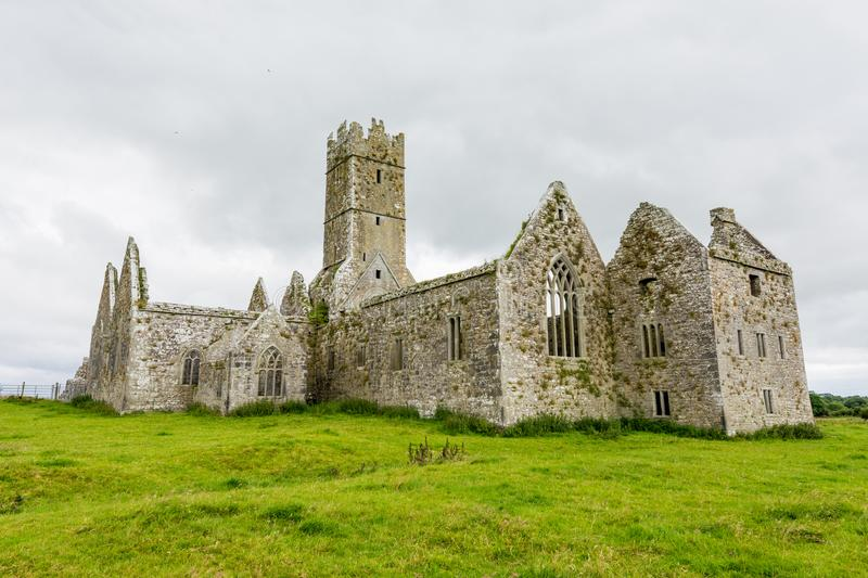Landascapes of Ireland.  Ruins of Friary of Ross in Galway county. Landascapes of Ireland. Ruins of Friary of Ross in Galway county stock image