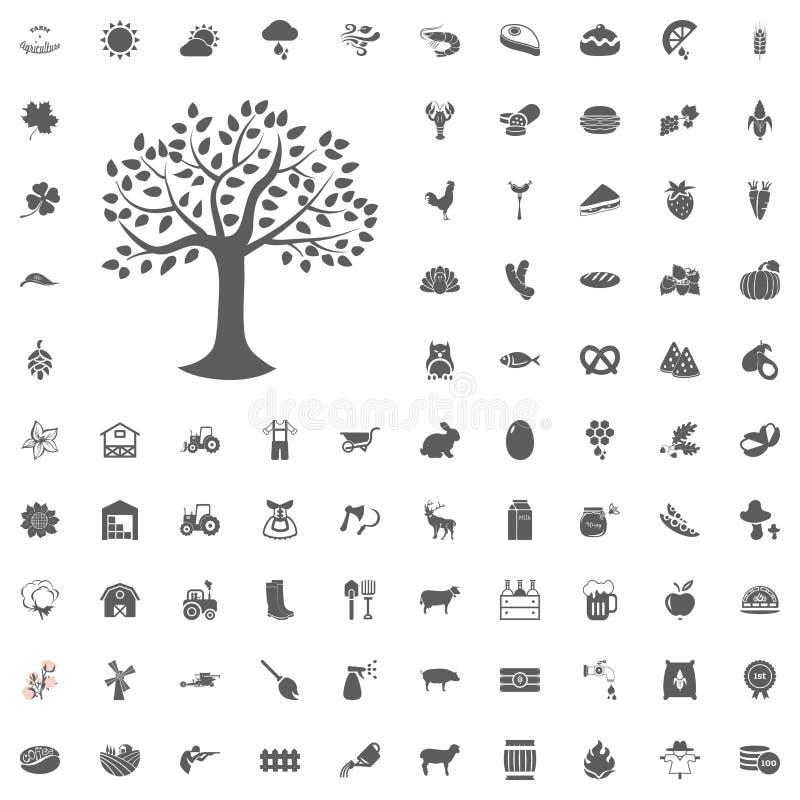Landbouw en Landbouwbedrijf Vector Geplaatste Pictogrammen vector illustratie