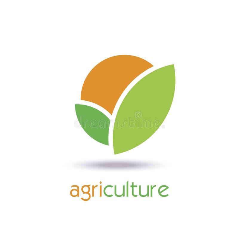Landbouw Logo Template Design Pictogram, Teken of Symbool royalty-vrije illustratie