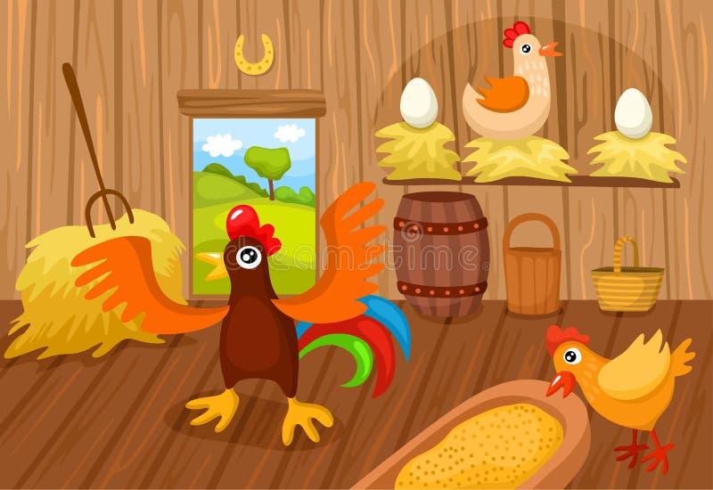 Landbouwbedrijf. royalty-vrije illustratie