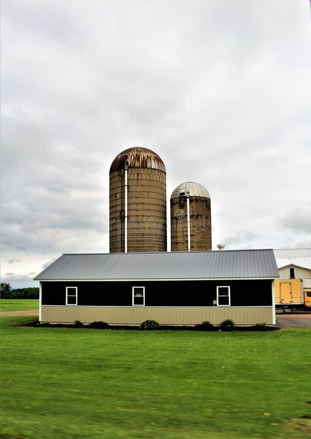Landbouwbedrijf in Franklin County, upstate New York, Verenigde Staten wordt gevestigd die stock fotografie