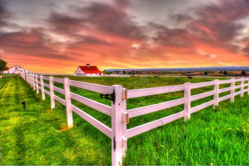 Landbouwbedrijf HDR royalty-vrije stock afbeeldingen
