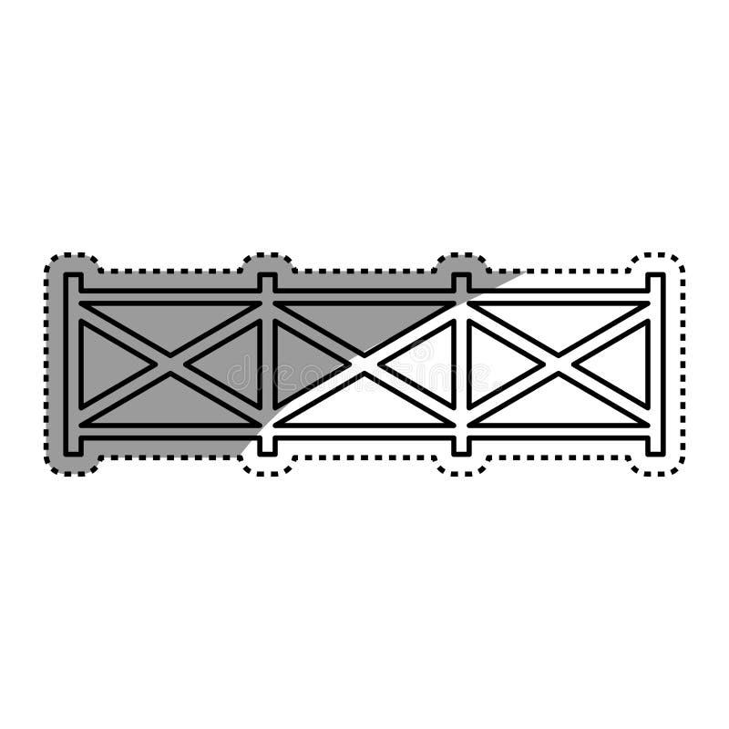 landbouwbedrijf houten omheining stock illustratie
