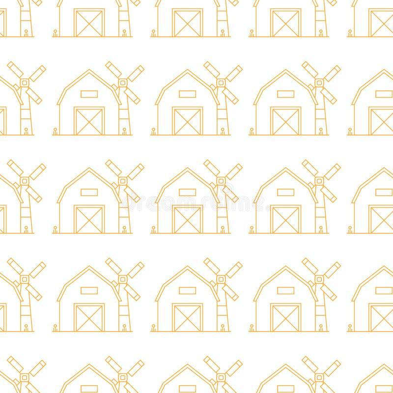 Landbouwbedrijf Naadloos Patroon vector illustratie