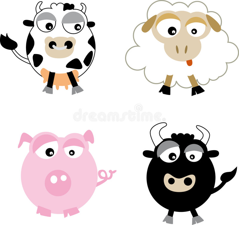 Landbouwbedrijf (vector) royalty-vrije stock foto