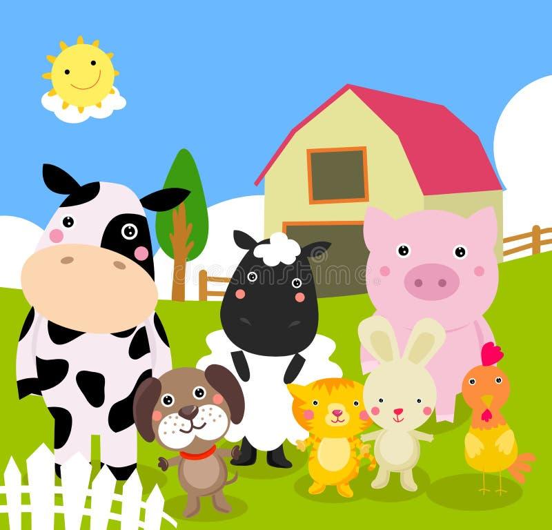 Landbouwbedrijfdieren royalty-vrije illustratie