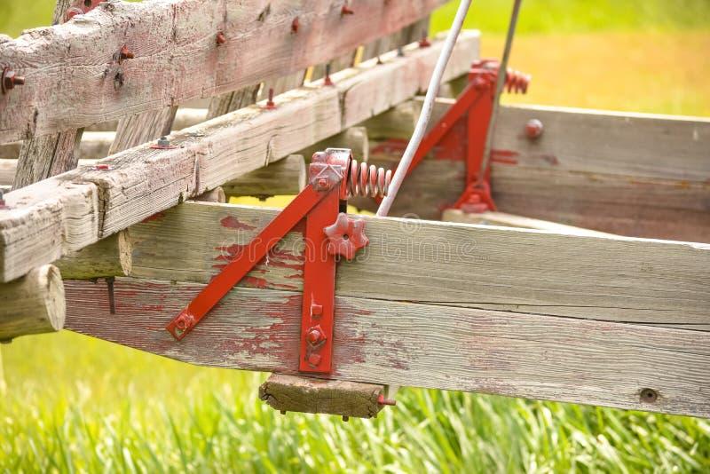 Landbouwbedrijfmateriaal met Antieke Rode Ster stock foto's