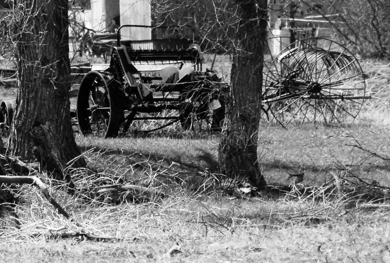 Landbouwbedrijfmateriaal van het verleden stock afbeelding