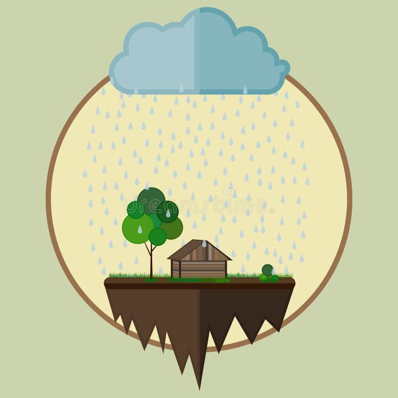Landbouwbedrijfoase stock illustratie
