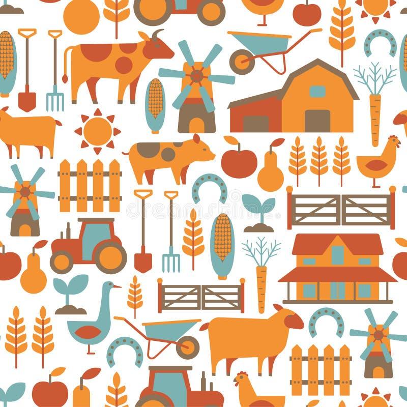 Landbouwbedrijfpatroon royalty-vrije illustratie