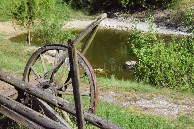 Landbouwbedrijfwiel royalty-vrije stock afbeeldingen